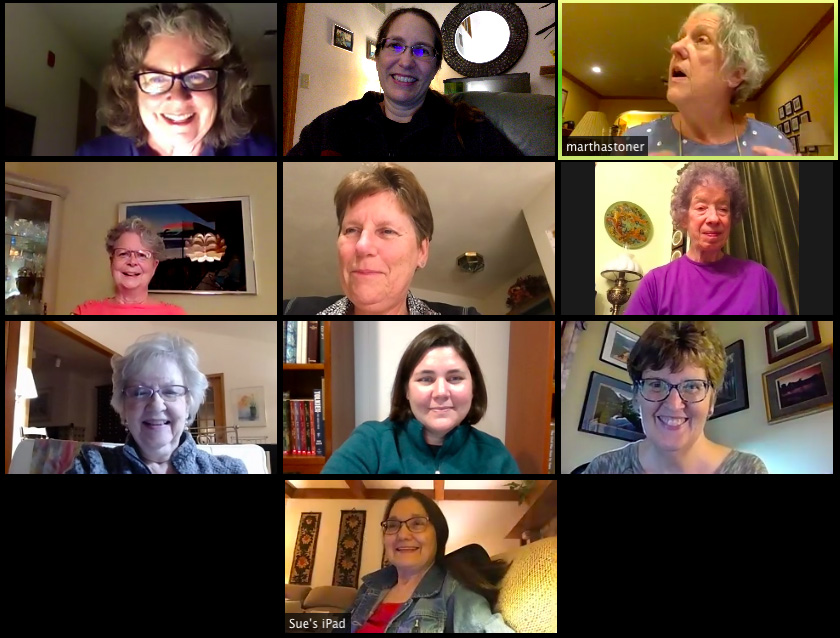 Our SAI chapter zoom meeting.